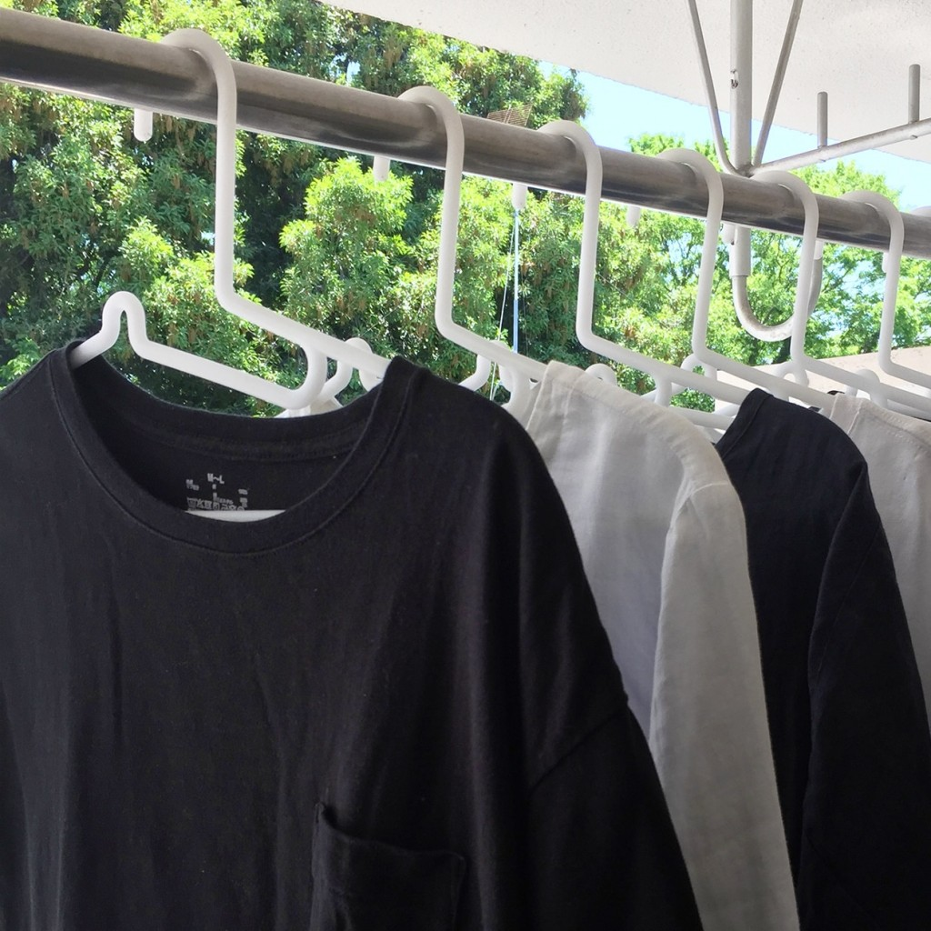 easy to use clothes caring hangers from MUJI