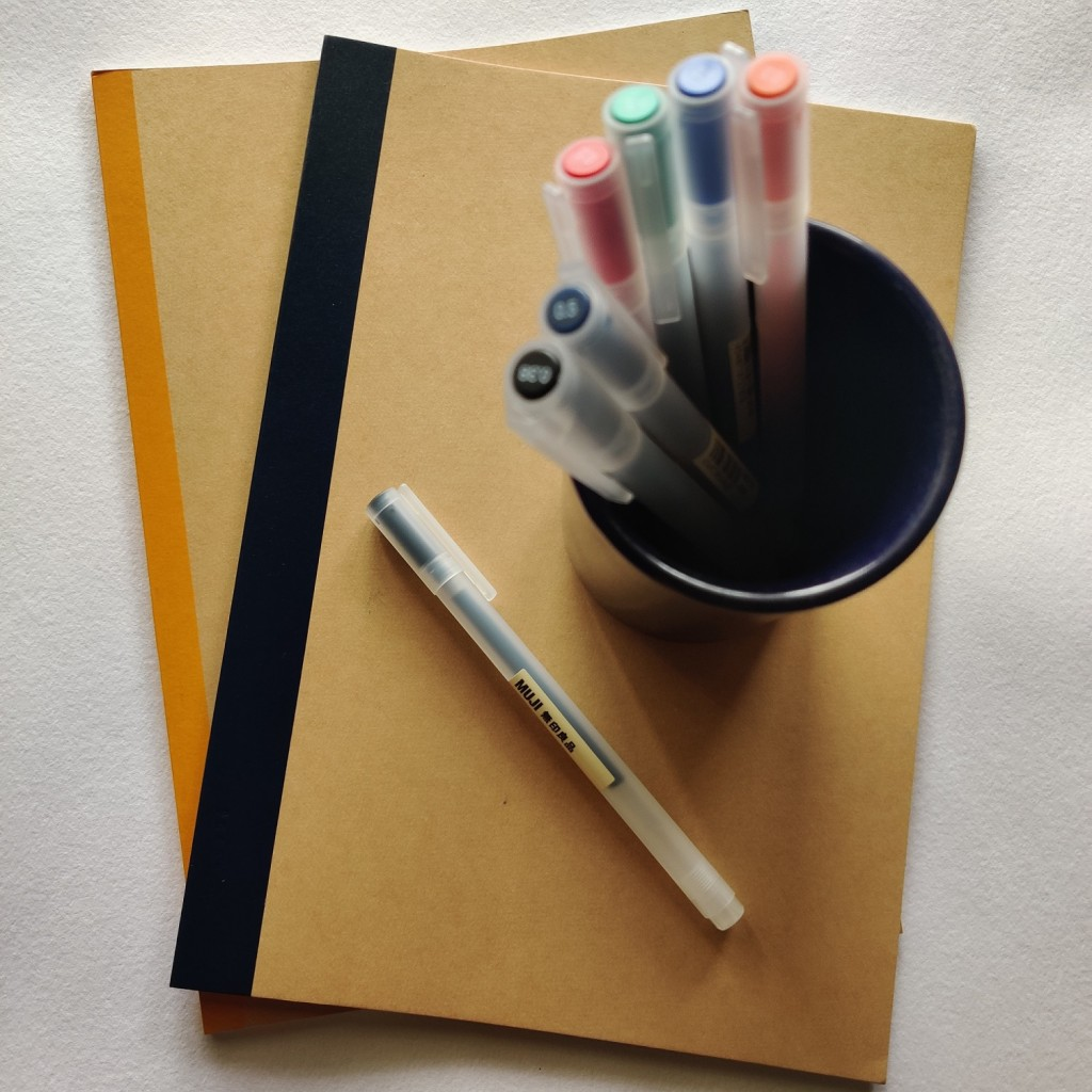 customer experience of using MUJI pens and notebooks